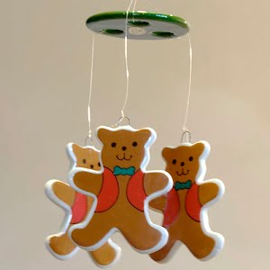 Vintage Teddy Bear Wind Chimes or Mobile