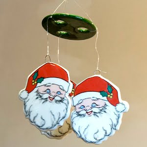 Vintage Santa Wind Chimes or Mobile