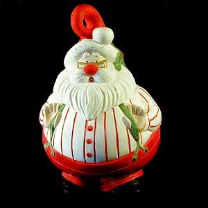 Vintage Ceramic Santa Cookie Jar