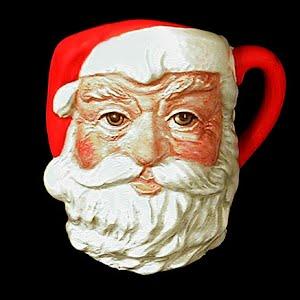 Vintage Porcelain Royal Doulton Santa Claus Head Figurine Mug