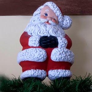 Vintage Large Ceramic Winking Santa Figurine