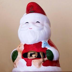 Vintage Ceramic Santa Bell