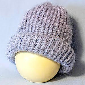Hand Knitted Violet Stocking Cap