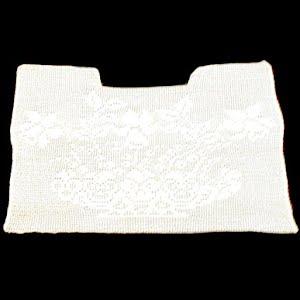 Antique Handmade Lace Flower Dress Insert