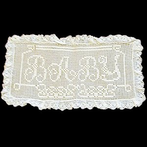 Antique Handmade Lace Baby Rectangle Pillow Insert