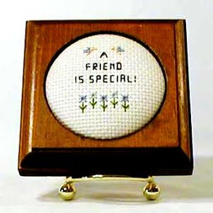 Framed Needlework, Friends are Special