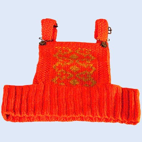 Orange Sweater Vest with adjustable straps and gold design