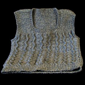Variegated blue-gray Sweater Vest