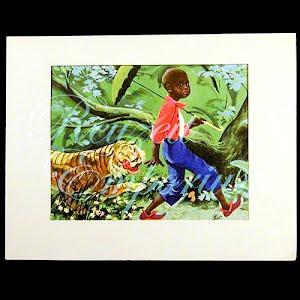Little Black Sambo Print, Black Americana Negro Print