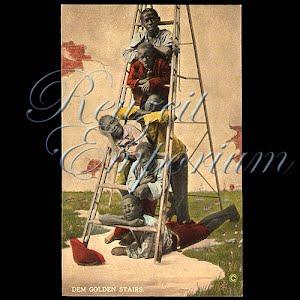 Black Americana Negro Antique Real Photo Photochrome Postcard