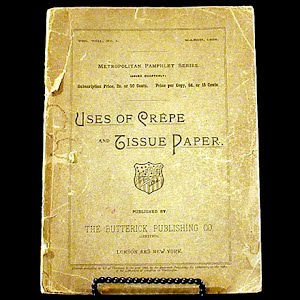 1895 Book Uses of Crepe and Tissue Paper
