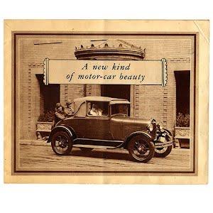 1929 Ford Dealer Sales Brochure New Kind of Motor Car Beauty