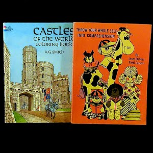 Childrens Castles of the World Coloring Book and Comprehension Books