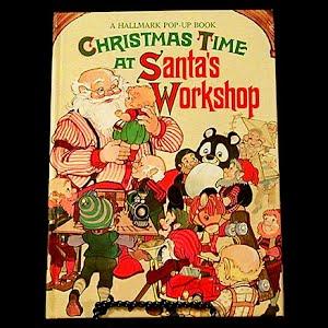 1989 Christmas Time at Santa Workshop Pop Up Book