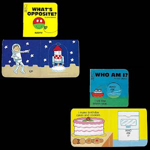 1983 Tiny Tuffy Books Whats Opposite and Who Am I Pop Up Books