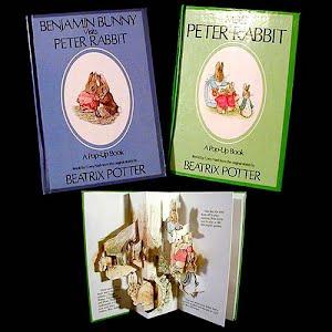 1986 Benjamin Bunny and Peter Rabbit Pop Up Books