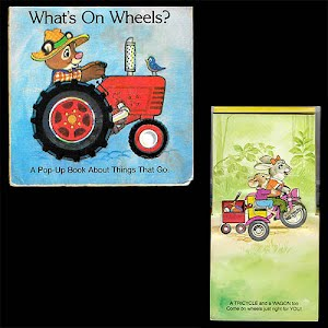 1982 Whats On Wheels Pop Up Book, A Little Learner Book
