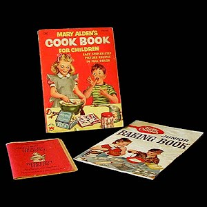 1955 Mary Alden Cook Book for children and Betty Crocker Junior Baking Book