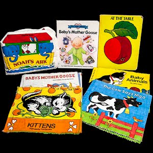 Vintage Soft cover Baby Books, The Cow Says Moo