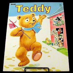 Vintage 1957 Teddy Children Book, Saalfield Artcraft
