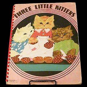 Vintage 1951 Three Little Kittens Children Book