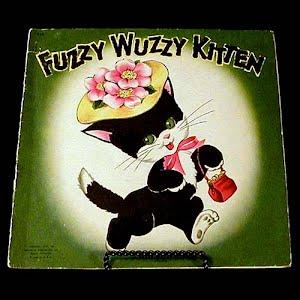 Vintage 1947 Fuzzy Wuzzy Kitten Children Book