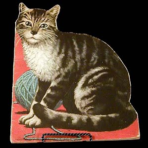 Vintage 1946 Kitty Cat, A kitten who looked at a King Children Book
