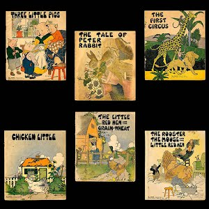 1932 Platt and Munk Children Books, Three Little Pigs
