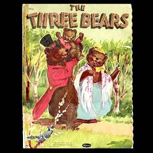 Vintage 1951 The Three Bears Children Book, Whitman