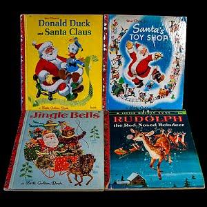 Vintage 1955 Children Christmas Santa Books