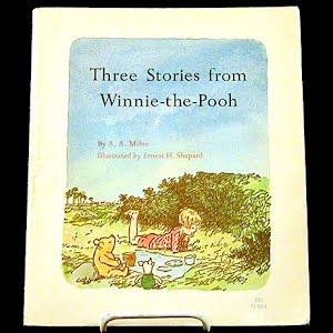 Vintage 1966 Three Stories from Winnie the Pooh Children Book