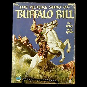 Vintage 1954 The Picture Story of Buffalo Bill Children Book