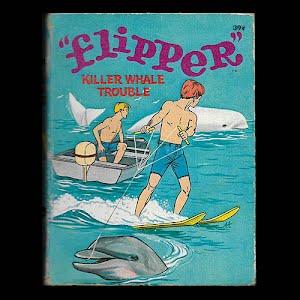 1967 Flipper Killer Whale Trouble, A Big Little Children Book