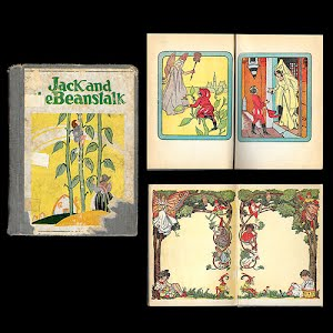 1908 Jack and the Beanstalk and Robinson Crusoe Book