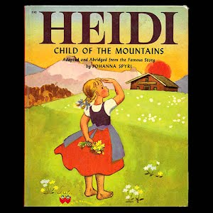 1950 Heidi Child of the Mountains Book