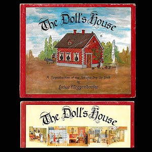 The Dolls House, a fold out paper doll house