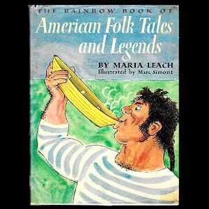 1958 Book American Folk Tales and Legends Children Book