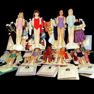 Original vintage Paper Dolls 1994 American Girl Paper Dolls