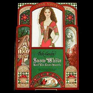 Original vintage Paper Dolls 1991 Snow White and the 7 Dwarfs Peck Grandre Paper Dolls