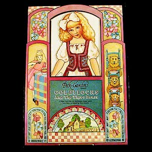 Original vintage Paper Dolls 1992 Goldilocks and the 3 Bears Peck Grandre Paper Dolls