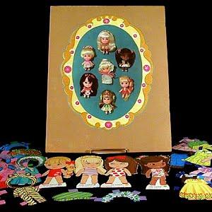 Original vintage 1967 Lucky Locket Kiddles Paper Dolls