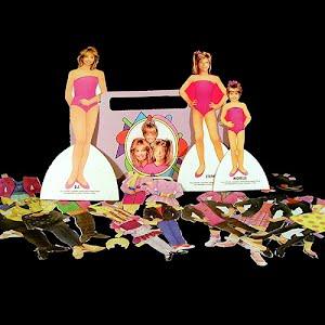 Original vintage 1992 Full House Paper Dolls