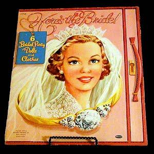 Original vintage 1953 Heres the Bride Paper Dolls