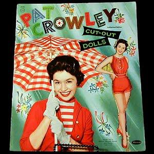Original vintage uncut 1955 Pat Crowley Paper Dolls