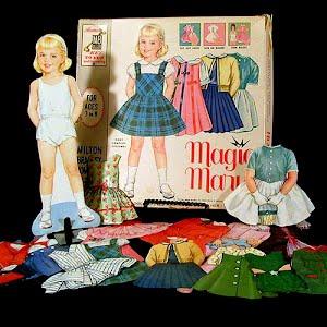 Original vintage 1962 magnetic Magic Mary Paper Dolls