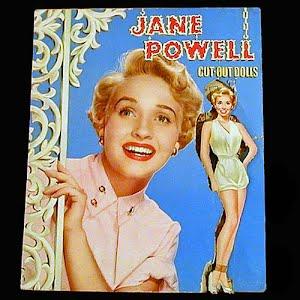 Original vintage 1953 uncut Jane Powell Paper Dolls
