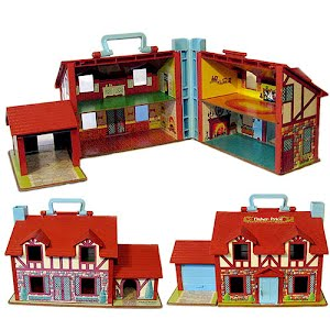 Vintage 1969 Fisher Price Little People Dollhouse