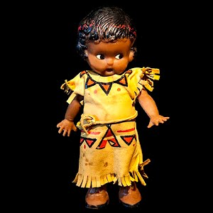 Vintage 1960 Celluloid Native American Indian Squaw Doll