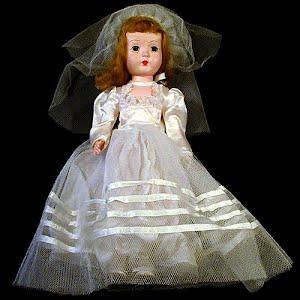 Vintage 1954 Bride Doll with original clothes