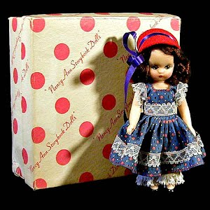 Vintage 1950 Little Betty Blue Nancy Ann Storybook Character Doll with original box